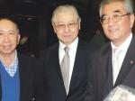 Samuel Oshida – advogado, TuyociOhara – coordenador da comissão jurídica da Associação do Centenário e Renato Nakaya – presidente da Sakura